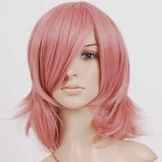 Pink Wigs Cheap Women's Medium Hair Syles Wig,pink wigs cheap ...