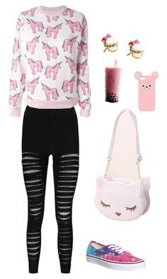 """Untitled #4839"" by northamster ❤ liked on Polyvore featuring Boohoo, Au Jour Le Jour, Vans, osumashi pooh-chan, Sweet & Co. and ASOS"