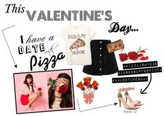 Pizza is my Valentine  #valentinesday #vday #heels #pinkheels #shoes #qupidshoes #strappyheels #cuteheels #fashion #red #pink #trendy #nowtrending #pizza #roses #girly #dressup #highheels