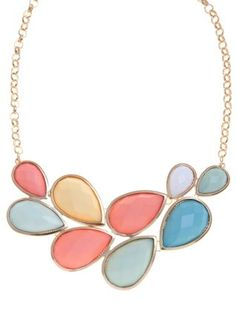 null (Multi Col) Bright Opaque Stone Collar Necklace | 246981499 | New Look