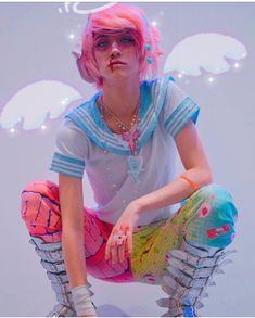Colourful Outfits, Edgy Outfits, Pretty Outfits, Pastel Goth Fashion, Kawaii Fashion, Creepypasta Girls, Kawaii Cosplay, Japanese Street Fashion, Young Fashion
