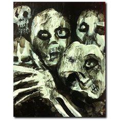 "Zombie Art by Jack Larson, Premium Canvas Gallery Wrapped Print 16""x20"""