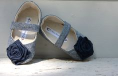 Baby Shoes Soft Soled - Winter Blue