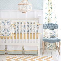 Starburst in Gold Baby Bedding