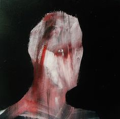 "Saatchi Art Artist: Oscar Sancho Nin; Acrylic 2014 Painting ""Red portrait"" #art (CJ)"