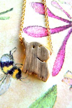 Gold Plated Baby Elephant Necklace - $18