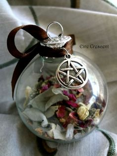 Home Blessing Glass Witch ball by EireCrescent on Etsy