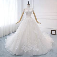Wedding Dresses 2018, Affordable Wedding Dresses, Unique Dresses, Beautiful Dresses, Custom Dresses, Long Dresses, Prom Dresses, White Lace Wedding Dress, Lace Dress