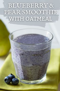 Deliciously healthy Pear Oatmeal & Blueberry Smoothie recipe made with blueberries, pears, & oatmeal! This antioxidant smoothie is perfect for a detox and to enjoy as a healthy breakfast. Super easy - made with just 5 ingredients! Replace milk with a dairy alternative to make this recipe vegan. A simple & easy smoothie great for kids. Plus it's protein rich with 12 grams of protein. It's quick to make & delicious to drink! --> Follow us on Pinterest & visit USAPears.org for more smoothie… Pear Smoothie, Oatmeal Smoothies, Easy Smoothies, Smoothie Recipes, Antioxidant Smoothie, Blueberry Breakfast, Pear Recipes, Pears, Blueberries