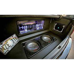 One Loud Page. alpine car audio custom install trunk plexi sub enclosure