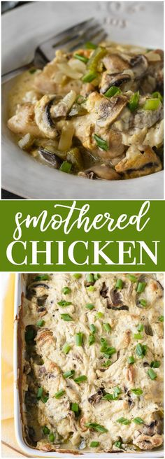 Smothered Chicken - Cozy, comfort food perfect to enjoy in the frosty weather. #ad