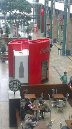 Coca cola vending machine Oberhausen Centro. Starbucks Germany