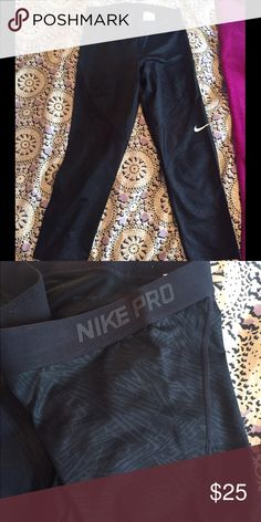 New Nike pro leggings with design New Nike pro leggings with design. 🚨NO TRADES🚨 Listed on Ⓜ️ercari. Nike Pants Leggings