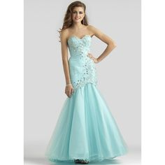 Clarisse 2408 Aqua Mist Mermaid Gown