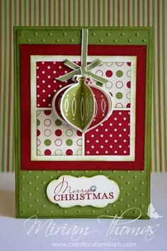 Ornament punch Christmas card