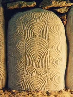 56: Neolithic Dolmen stone, Gavrinis Island, Brittany, France. c.3,500BC | Fine Stone Miniatures
