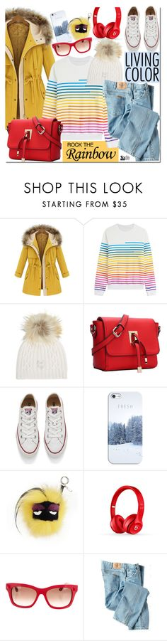 """""""Rainbow Style"""" by mada-malureanu ❤ liked on Polyvore featuring Mary Katrantzou, M. Miller, Converse, Casetify, Fendi, Beats by Dr. Dre, Valentino, Dickies, women's clothing and women's fashion"""