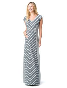 Jessica Simpson Cap Sleeve Tie Detail Maternity Maxi Dress - maybe I ahould buy this now. They won't have it when I'm actually prego!