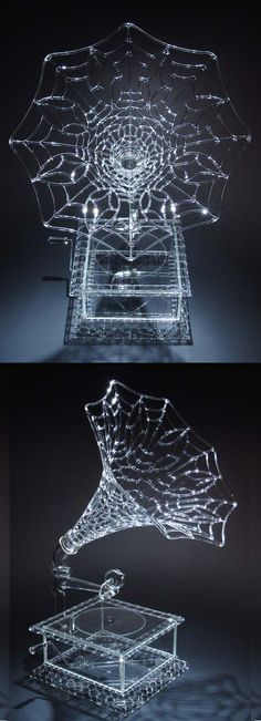 Victrola a glass sculpture by Robert Mickelson.