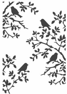 Stencils by TATI stencil Hobby & Decor - товары для рукоделия Silhouette Clip Art, Animal Silhouette, Silhouette Cameo Projects, Stencil Patterns, Stencil Designs, Stencils, Bird Stencil, Manualidades Halloween, Paper Birds