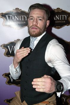 UFC superstar Conor McGregor takes time out from training and recuperation from his knee injury to party at GAA manager Seamus McEnaney's Vanity Nightclub in Carrickmacross with...