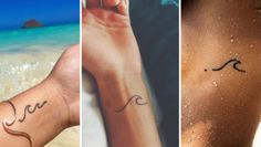 Simple Wave Tattoo Designs