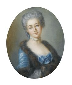 FRENCH SCHOOL OF THE 18TH CENTURY ; PORTRAIT OF MARIE-FRANÇOISE LHUILLIER DE LA SERRE, MOTHER OF LOUIS ALEXANDRE BERTHIER ; PASTEL, OVAL
