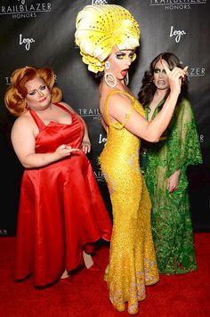 Ginger Minj, Alyssa Edwards & Phi Phi O'Hara @ Trailblaizer Honors 2016