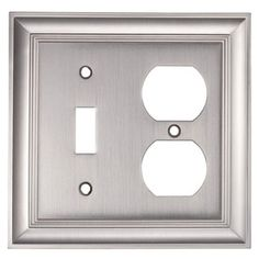 Allen And Roth Wall Plates Enchanting Allen Roth1Gang Satin Nickel Standard Duplex Receptacle Metal Wall Review