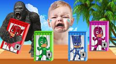 Learn Colors with PJ Masks Keys in Jails Prison - Bad Baby Cry to learn ...