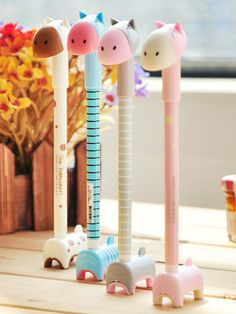Korean cartoon animal ball pen (set of 3)