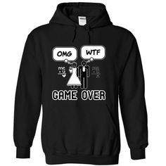Cool Game Over Wedding T-shirts & Hoodie - Just+married Shirts & Tees