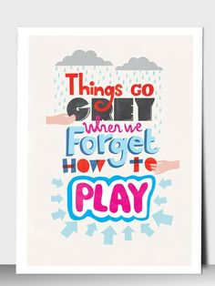 As an Art Therapist I help people to remember how to PLAY!!!