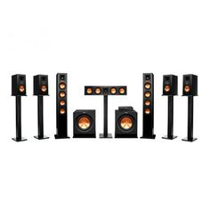 Klipsch Reference Premiere HD Wireless Channel Monitor Speaker System with HD Control Center Wireless Home Theater System, Wireless Sound System, Best Home Theater System, Home Theater Setup, At Home Movie Theater, Home Theater Speakers, Speaker System, Audio System, Room Speakers