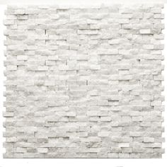 Solistone x Modern White Natural Stone Wall Tile from Lowes. Kitchen Backsplash- I love this. Mosaic Wall Tiles, Kitchen Wall Tiles, Marble Mosaic, Stone Mosaic, Stone Tiles, Marble Wall, Stone Kitchen Backsplash, Mosaics, Natural Stone Backsplash