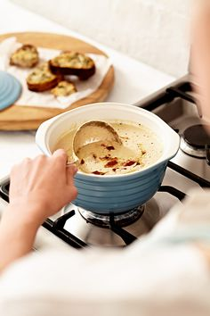 Sarah Graham, author of Smitten, shares this delicious recipe for cauliflower, sage and bacon soup with us. Aren't we lucky, interested? Read on.