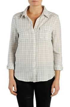 Free shipping and returns on Paige Denim 'Mya' Plaid Shirt at Nordstrom.com. Pleated button-flap chest pockets and bias-cut yoke panels put a modern twist on a classic plaid shirt cut from supersoft cotton. This style can be worn alone, as a layering piece or tied around your waist in a nod to the '90s.
