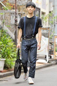 Eiji | American Apparel Maison Margiela used UNIQLO pimpstick | 2nd week  Jul. 2016 | Harajuku | Tokyo Street Style | TOKYO STREET FASHION NEWS | style-arena.jp