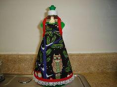 Dish Soap  Apron Owls theme by MyApronLady on Etsy, $3.99