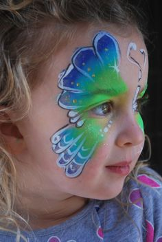 Beautiful Butterfly  face paint