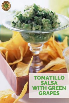 This make ahead Tomatillo Salsa with Green California Grapes is so easy to make, and the perfect cold appetizer or party snack for your next football tailgate get-together.  #appetizers #easy #cold #makeahead #partysnacks #tailgatefood #tailgatefoodmakeahead #tailgatefoodfootball #tailgatefoodeasy Cold Appetizers, Appetizers For Party, Appetizer Recipes, Grape Recipes, Fall Recipes, Mexican Recipes, Easy Tailgate Food, Football Tailgate, Easy Snacks