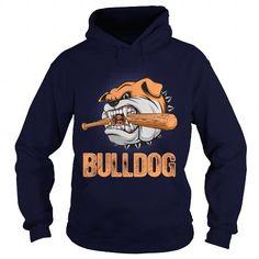 Awesome Tee A Fierce Bulldog Breaks A Baseball Bat Shirts & Tees