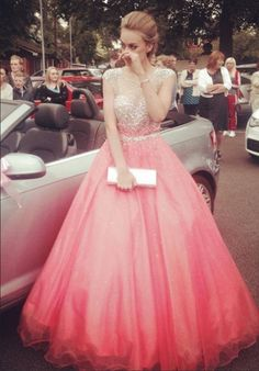 Charming Prom Dress, Tulle Prom Dress, Elegant Evening
