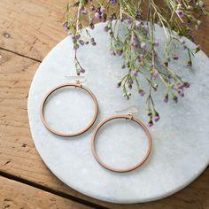 Wooden Loop Earrings - Magnolia Market   Chip & Joanna Gaines