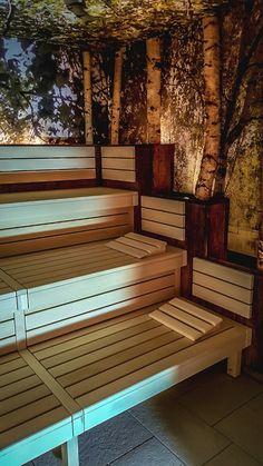 Aquapalace Praha Čestlice - Malá finská sauna Praha, Outdoor Furniture, Outdoor Decor, Spa, Deck, Home Decor, Decoration Home, Room Decor, Front Porches