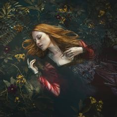 What is your favourite art version of Ophelia? Right now, I really enjoy this capture by Wearable art by and model Dream Photography, Fantasy Photography, Underwater Photography, Fine Art Photography, Origami Fashion, Ophelia Painting, David Walker, Pre Raphaelite, Jolie Photo