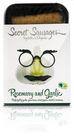Pack Design for www.secret-sausages.com. Luxury vegetarian #sausage #packaging for you @Sarah Reynolds. Design by James Cameron PD
