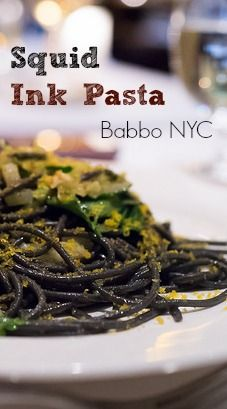 Squid Ink Pasta from Mario Batali's Babbo in New York City