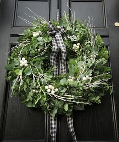 Eukalyptus Weihnachtskranz-adventskranz ideen