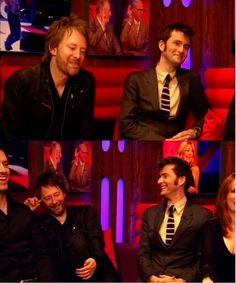 Thom Yorke and the Doctor! Shut the front door, my head would explode if I walked into a room containing these two men.